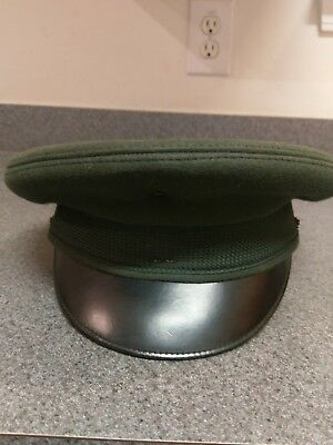 2c00b01b Vintage Military Hat Cap Officer Bancroft Military Caps Green US ARMY  EUC!!! VTG