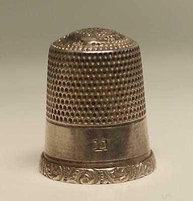Sterling Silver Thimble No. 11 scroll rim