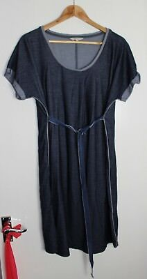 Noppies Denim look Blue Maternity Dress/Tunic with belt/tie Large