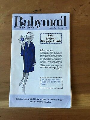 """Vintage Mail Order Catalogue - 1963 Maternity Nursery & Baby Goods """"Baby Mail"""""""