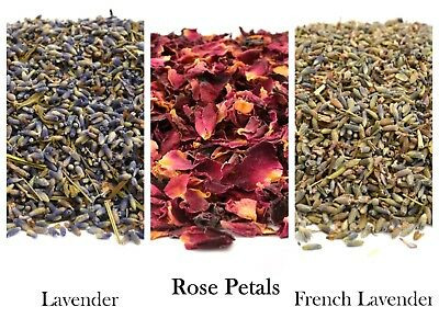 Dried Rose Petals, Dry Lavender Flowers, Soap Making, Crafts, Confetti, FREE P&P