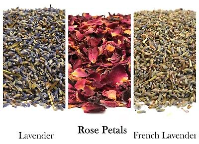 Dried Rose Petals & Lavender, Dried Flowers, Dried Petals, Confetti, FREE P&P