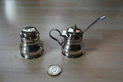 Vintage Silver Plated Mustard & Pepperpot ~ Collectable