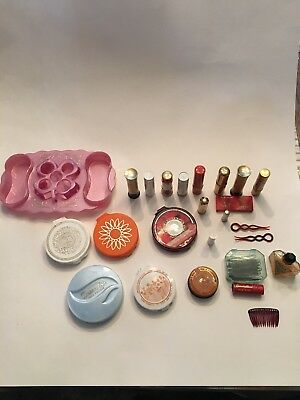 Vintage Make Up Lipstick And Face Powder Coty And Others