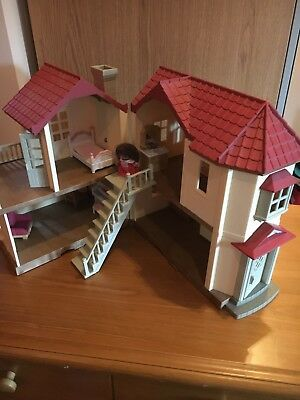 Sylvanian Families Beechwood Hall House With Furniture and one figure