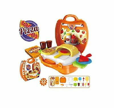 22PCS Pretend Role Play Kitchen Pizza Fruit Vegetable Food Toy Cutting Set Kids