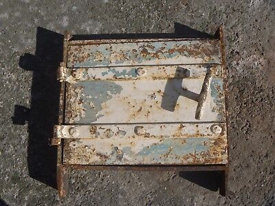 Vintage iron fire door clay / bread oven / pizza stove...needs some tlc!!