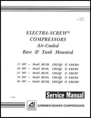 gardner denver electra screw air compressor service manual 35 00 rh picclick com Environmental Manual Standard Operating Manual