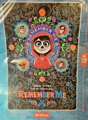 """NEW in Plastic - Large Disney COCO """"Remember Me"""" Premium Blanket From Japan"""