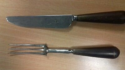 19th c knife fork A Allan gun maker Glasgow