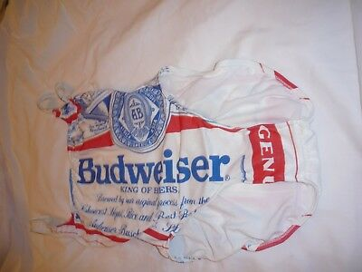 Vintage new 1980's Budweiser ladies swimsuit size 11/12 (USA)