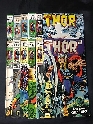 Lot-10 Thor Silver/Bronze #160--#173 Fine Group (1969-70) NR Free Shipping WOW!!