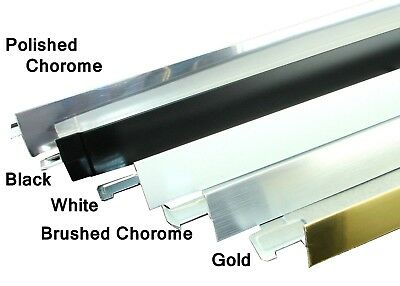 C M C White Black Chrome Brushed Trim Cross Tee Section Ceiling Grid 600mm 1200