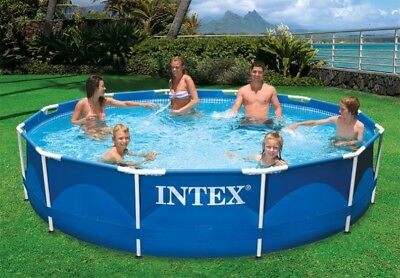 NEW Intex 12ft X 30in Metal Frame Swimming Pool Set with Filter Pump Easy Set Up