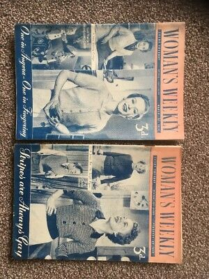 Vintage 1954 WOMAN'S WEEKLY Magazine x 2 1950'sCrafts/ Knits