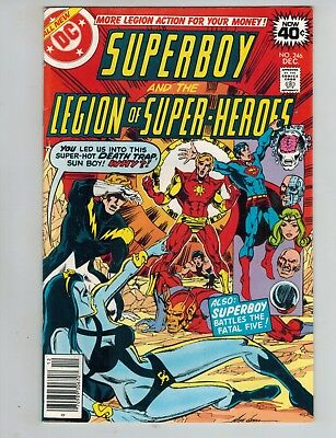 Superboy Legion of Super-Heroes 246 247 248 249 250 vs Fatal 5  1979 VF Lot of 5