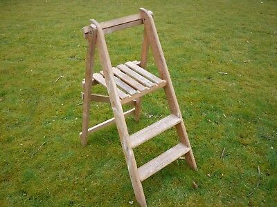 Vintage set of small wooden steps, great for display stand