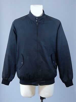 Baracuta England men's navy blue harrigton jacket size 42