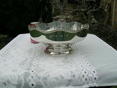 Hallmarked Modern Silver Punch Bowl with Celtic Motif  Reid & Sons 1994