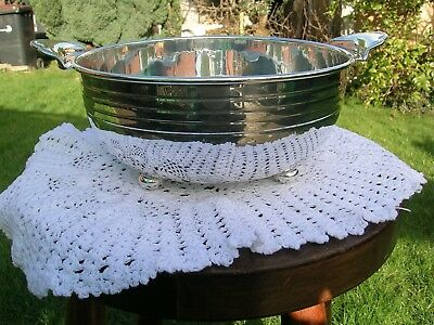 Art Deco Hallmarked Solid Silver Fruit Bowl Barker Brothers 1938