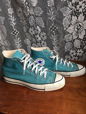 converse chuck taylors all star made in usa 9.5 teal blue