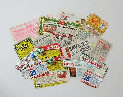 Vtg 70s 80s Lot of 18 Grocery Store Coupons No Expiration Date Pringles Jenos