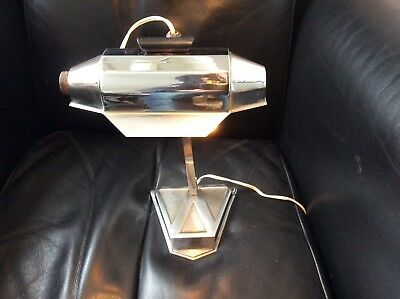 Pirouett France Art Deco Lampe De Bureau Moderniste Nickel Chrom 1930s Top