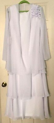 NEW w/Tags~ JJ's House Wedding FORMAL Mother of the Bride Dress-Size 14- White!