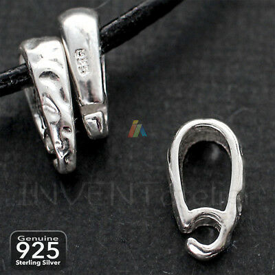 925 STERLING SILVER SNAP BAIL 11.5x6mm HOLE 6x4mm OPEN RING Necklace PENDANT