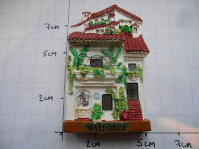 3-D Souvenir Fridge Magnet Mallorca Traditional House Balearic Islands Spain