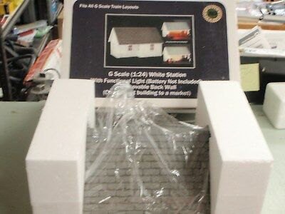 American Diorama 1;24 G Scale White Station Building Train Layout