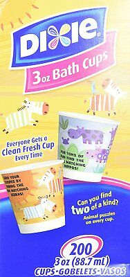 Dixie Everyday Disposable Bath Cups, pack of 200 Count, 3 Ounce Paper Cups; May