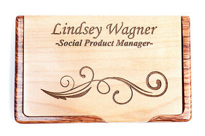 Personalized carbon fiber business card credit card holder case personalized bamboo business card holder laser engraved business card case box colourmoves