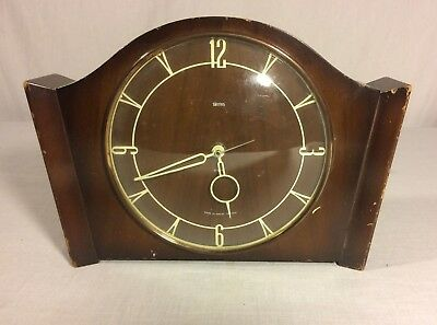 Vintage Smith's Clock and Watch Wooden Mantel Clock - UK