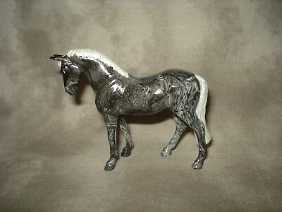 Breyer CM Glossy Decorator Black Marble Standing Thoroughbred Stablemate
