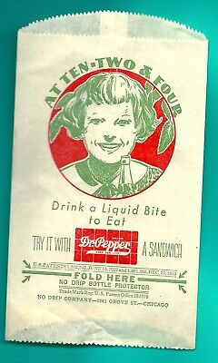 Dr. Pepper No Drip Paper Bottle Protector - Patent Date 1932