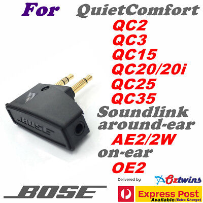 3.5MM Genuine BOSE Headphone Airline Adapter QC2 QC3 QC15 QC20 QC25 QC35 AE2 OE2