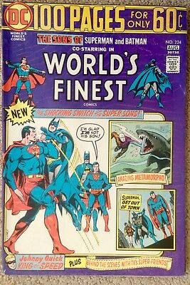 World's Finest Comics #224 (1974)  100 Pages!  Super-Sons!  PRICED TO SELL!