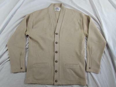 Vtg 40s 50s Campus Cardigan Sweater All Wool Mint Condition Hollywood Work Wear
