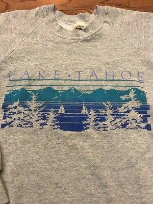 Vintage Lake Tahoe Tourist Sweatshirt - Large
