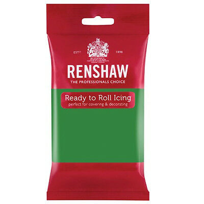 Lincoln Green Renshaws Ready to Roll Sugarpaste Colour Icing 750g (3 x 250g)