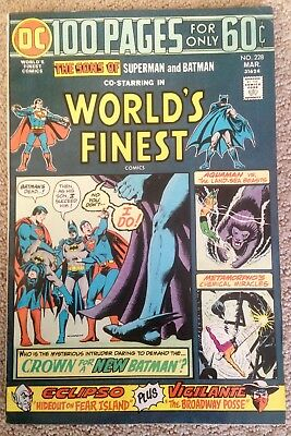 World's Finest Comics #228 (1975)  Batman/Superman/Super-Sons!  PRICED TO SELL!