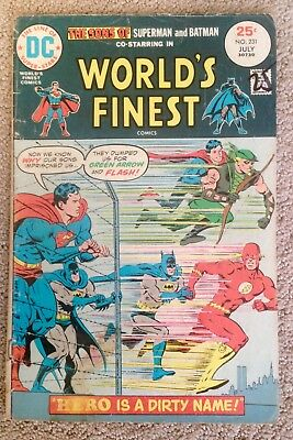 World's Finest Comics #231 (1975) Super-Sons/Green Arrow/Flash!  PRICED TO SELL!