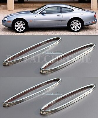 UK STOCK x4 ROYAL CHROME Front & Rear Reflector Trims Jaguar XK XK8 XKR 96-05