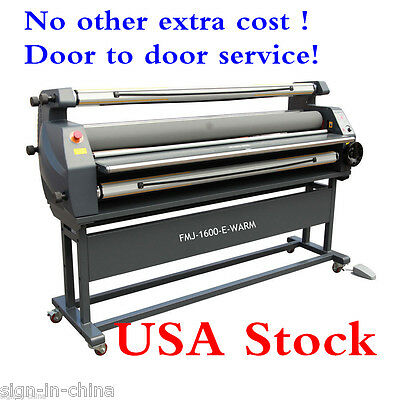 "US STOCK 110V 63"" Entry Level Full Auto Heat Assisted Wide Format Cold Laminator"