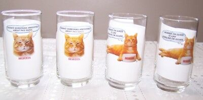 4 Morris the cat 9 Lives Morris on Glass is Like Sterling on Silver Vintage