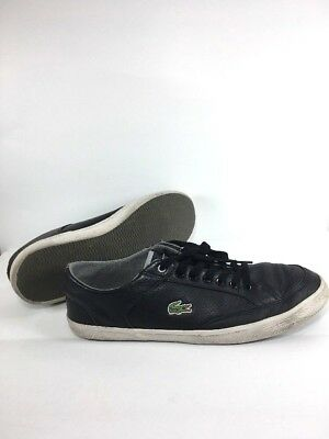 0e25d1e80e17 Lacoste Sport Haneda CRE SPM Black White Mens US 10.5 Shoes Lace up