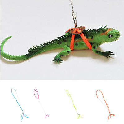 1pc Reptile Lizard Gecko Bearded Dragon Harness and Leash Adjustable Strap Light