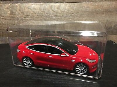 Tesla Model 3 Replica With Display Case – 1:24 Scale - RARE