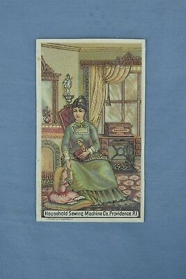 Advertising Victorian Trade Card Household Sewing Machine Providence Ri #05233